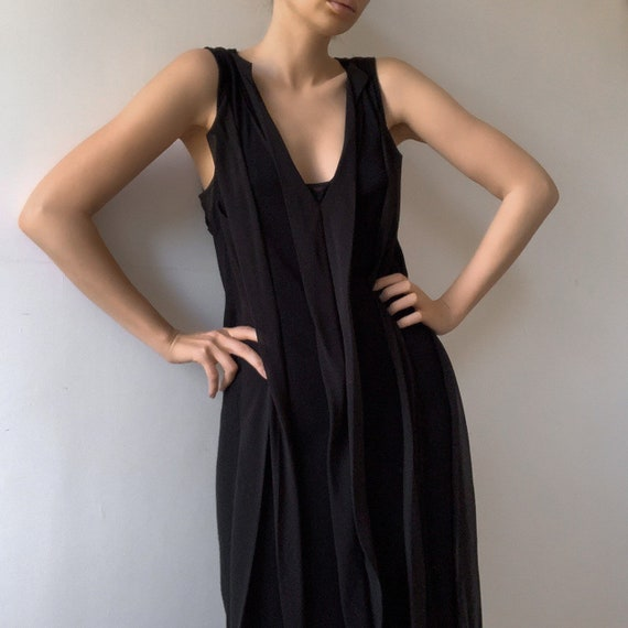 Black wool vintage Vivienne tam dress