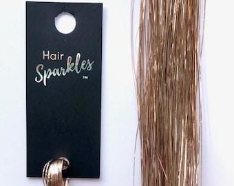 Champagne Quartz Hair Sparkles® (Hair Tinsel)