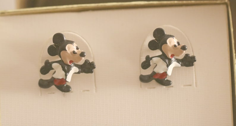 Mouse Cufflinks Father/'s Day Birthday Anniversary Mens gift Vintage Mickey Mouse Vintage Walt Disney Mickey Mouse Cufflinks