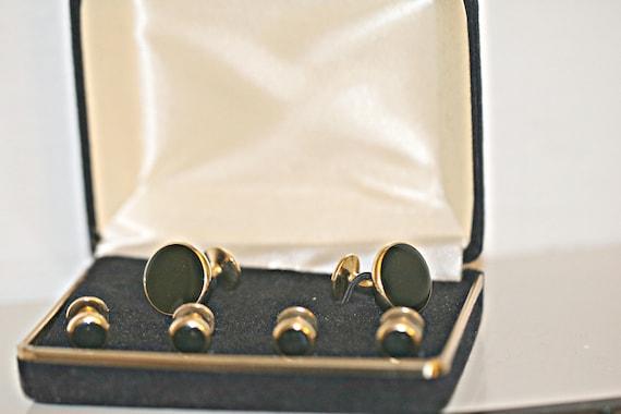 Vintage Tuxedo 5 Shirt Silver Onyx Stud Set Wedding Gifts Groomsmen/'s Gifts