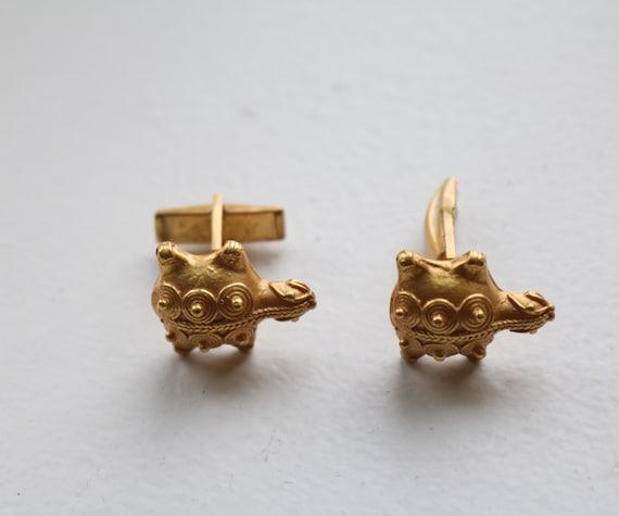 Amphibian Reptile Vintage Novelty Cuff Link Sea Turtle Turtle Jewelry Turtle Cufflinks 1950s Cuff Link Vintage Men/'s Jewelry