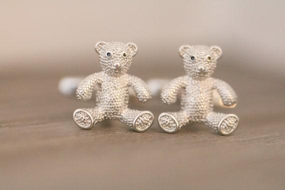 Teddy Bear gifts, Bear cufflinks, bear, teddy bear