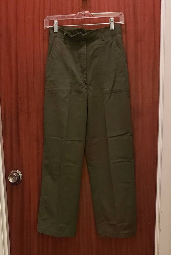 vintage green military women's pants