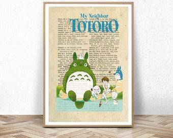totoro, totoro poster, totoro baby, my neighbor totoro, manga poster, hayao miyazaki, hayao miyazaki print, neighbor gift, Studio Ghibli, up