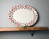 Antique huge Furnivals Cluny Oval Large Meat Plate Turkey Platter Display Charger imari style huge