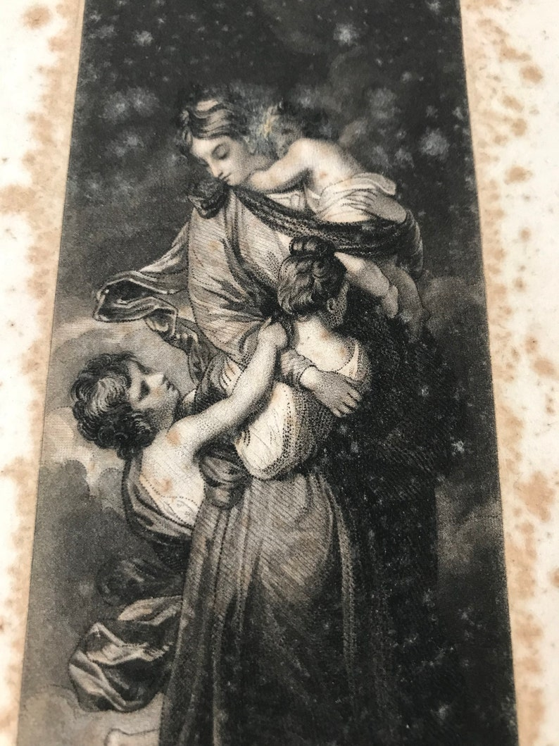 Antique 18th century Engraving Sir Joshua Reynolds - S W Reynolds Sculpt  Engraver - Charity - Mother and children Vintage print