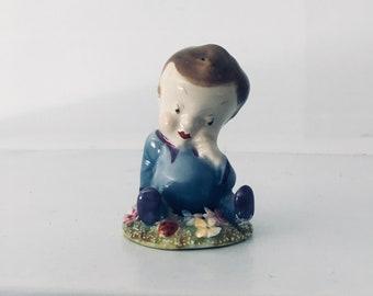 1948 Wade Blynken Nursery rhyme ceramic figure Vintage baby - miniature (79)