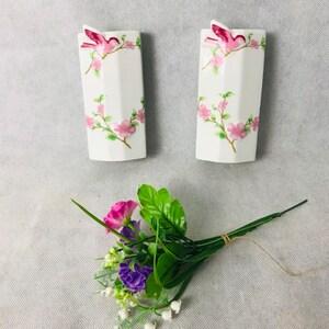 53 Foreign Diamonds stripes stylish Retro interior jugs Jasper Black /& White ceramic pair of Art Deco Style vases