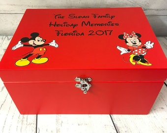 Personalised Wooden Box - Disney Memories Florida GIFT - Strong Sturdy Boxes
