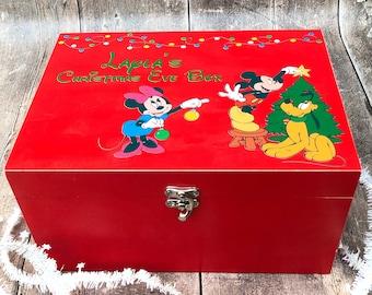Vintage Disney Shabby Chic Personalised Christmas Eve Box