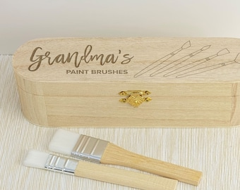 Grandma's Paint Brushes Art Artist Personalised Gift Mother's Day Painting