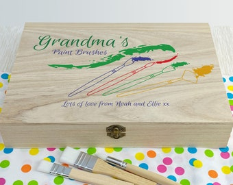 Paintbrush Personalised Colour Art Box Gift Large Supplies Artist Tools Painting