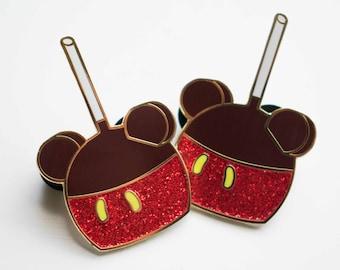 Fall Friends Red Caramel Apple Kawaii Cute Enamel Pin