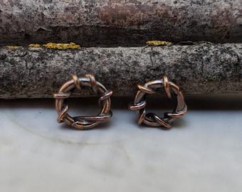 Twisted Jump Rings - Closed Jump Rings - Fancy Jump Rings - Copper Jump Rings - Copper Connectors - Copper Findings - Artisan Findings