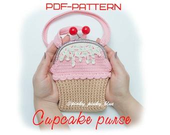 Crocheted Cupcake Purse PDF-pattern