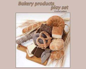 Bakery Products Play Set crochet pattern