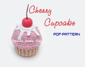 Cherry Cupcake Crochet Pattern