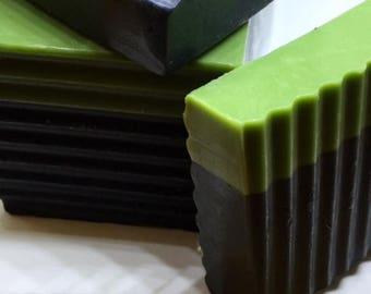 Charcoal & Tea Tree Facial Cleansing Soap Bars -Black Soap - - Soap Farmacy - Chesilhurst Farm