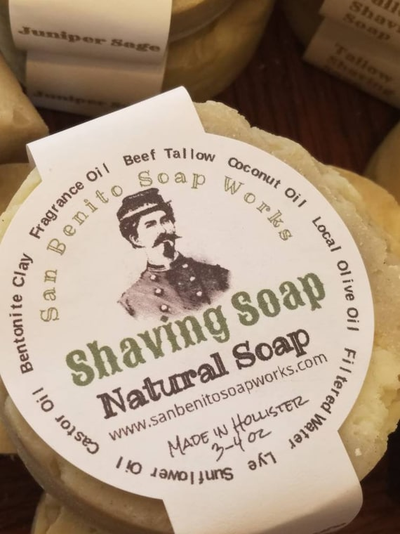 Edwardian Men's Accessories Shaving Soaps tallow and vegan friendly $3.00 AT vintagedancer.com