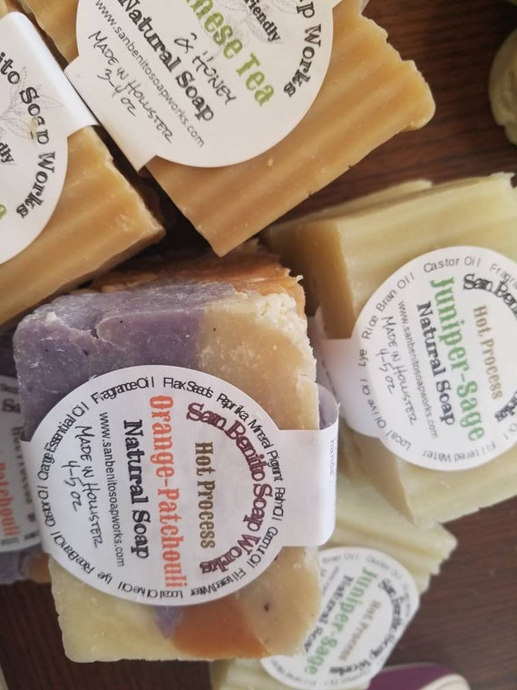 HOT PROCESS SOAPS, Vegan-Friendly,  various styles and scent options