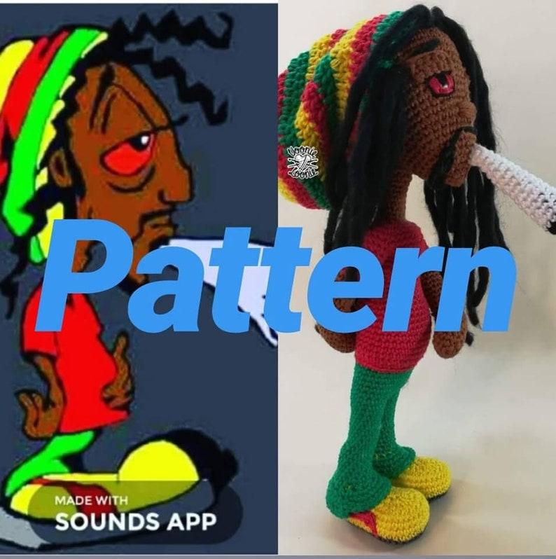 Crochet Pattern For Bob Marley Doll Not Finish Doll Etsy