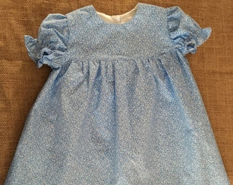 Baby Blue Floral Dress | Size 6-9 Months | Brand New