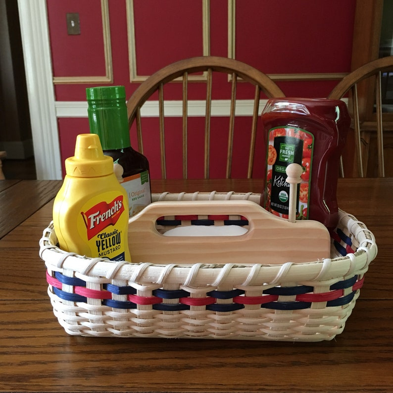 4Th of July Napkin Basket Independence Day Americana Basket image 0