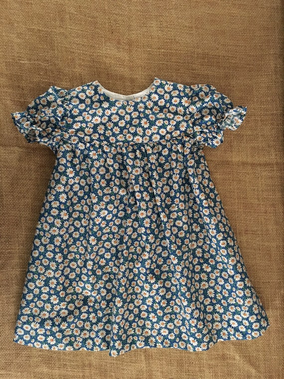 0c667b775 Daisy Prairie Dress 9 12M Blue with Daisies Brand New