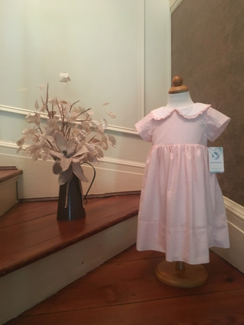 Pink Dress Size 2T Brand New Dress Size 2T Textured Pink image 0