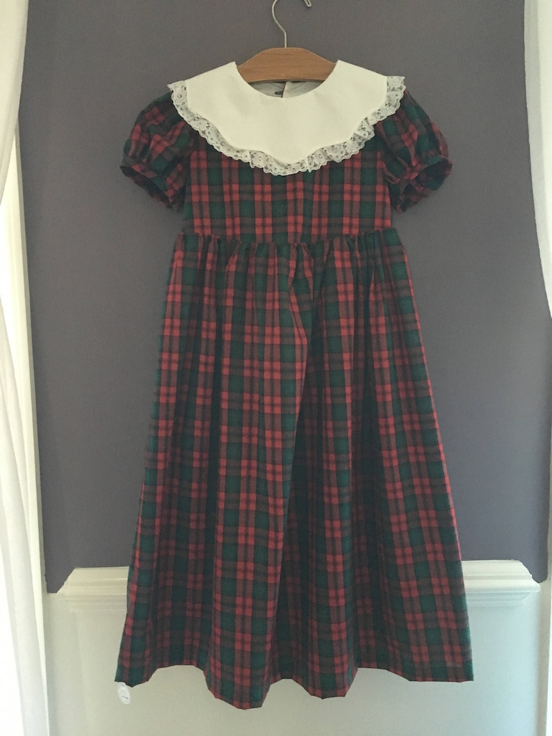 Girls Size Plaid Green and Red Dress Brand New Girls Plaid image 0