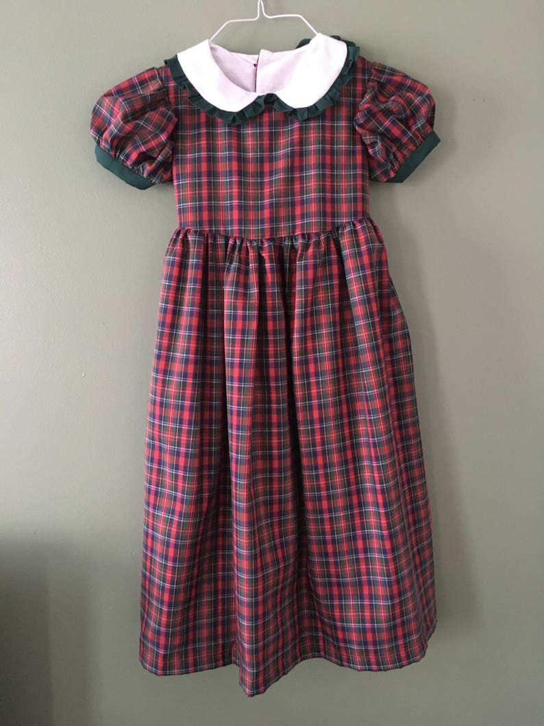 Girls Dress Size 6 with Peter Pan Collar Clothing Girls Ruffle image 0