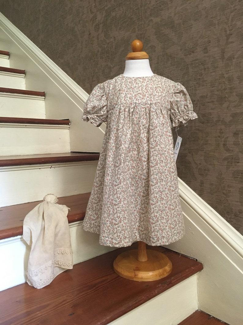 Cream Floral Baby 18-24 Months Dress Brand New Dress Size image 0