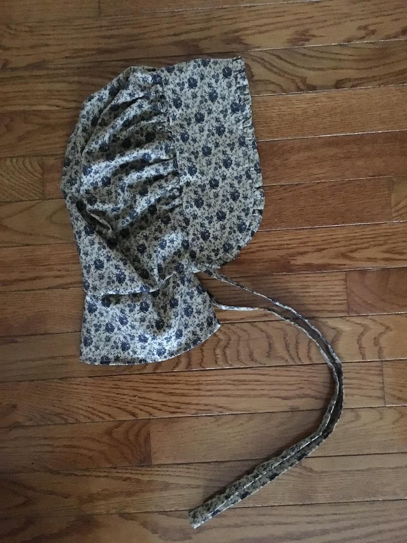 Ruffled Adult Bonnet With Optional Neck Shade Caroline Ingalls image 0
