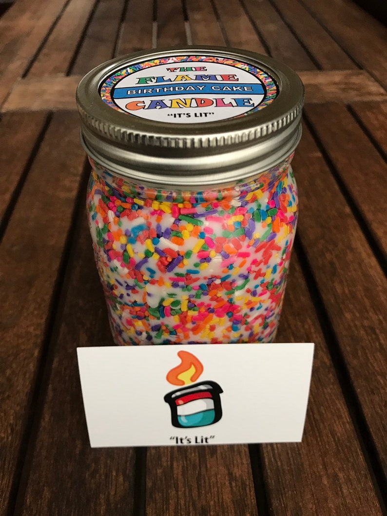 16 Oz Birthday Cake Scented Candle Rainbow Sprinkle Candles