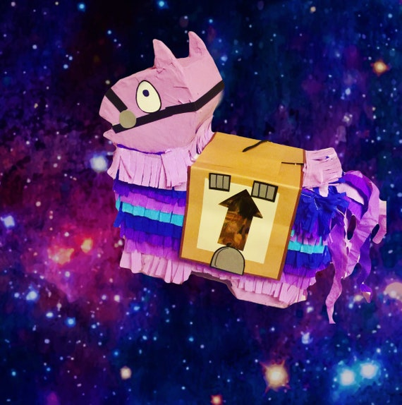 Super cute 14 inch llama piñata in purple.  Perfect for your birthday loot