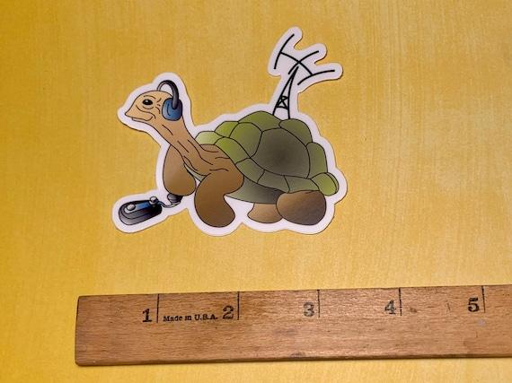 "Morse the Tortoise Original Character heavy duty vinyl sticker 3"""