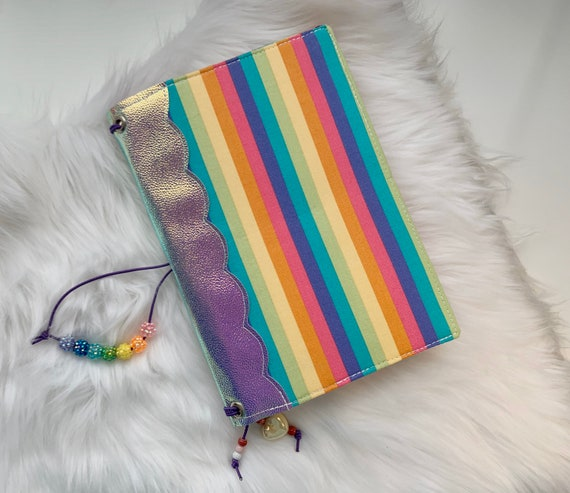 Behold!  Iridescent rainbow traveler's notebook TN is super extra, maximalist, and everything 11 year old you could want.