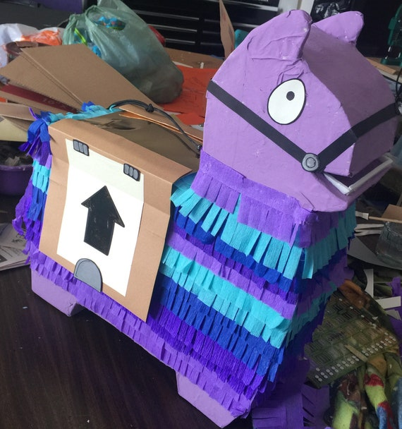 Awesome 21 inch llama piñata in purple!  Perfect for your birthday loot