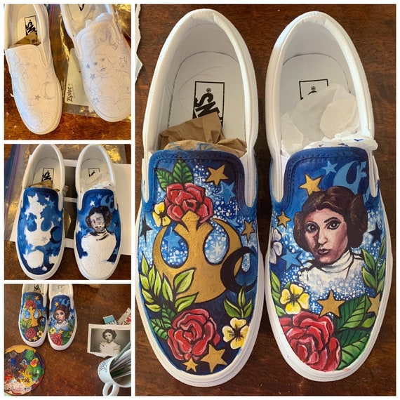 Custom painted Toms, Converse, Vans, etc. made with your requested design! **Cost of shoes not included** READ ITEM DESCRIPTION**