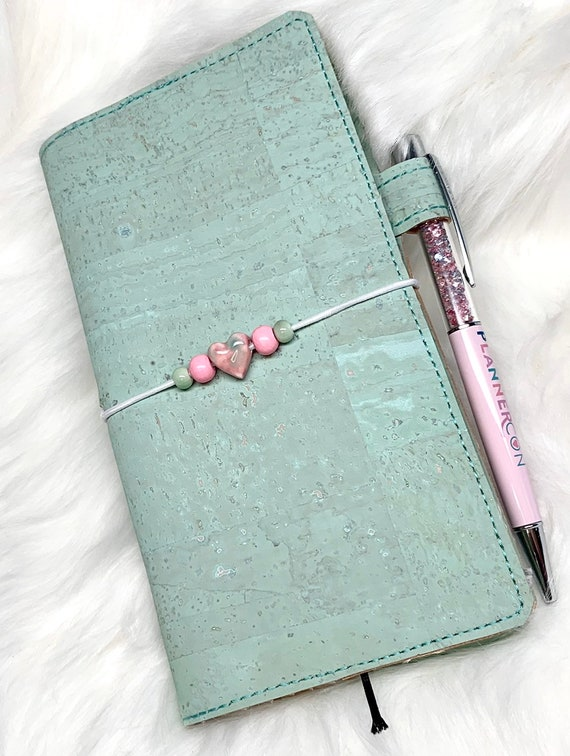 Natural cork planner, cover only! in Mint green,  sized for your favorite weekly planner!
