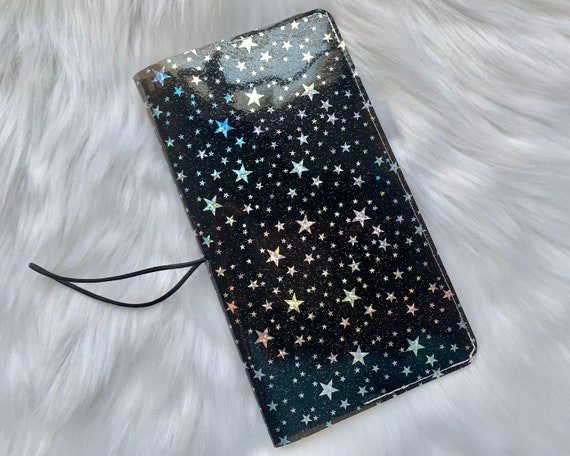 Sparkling star jelly cover in black sized for your favorite weekly planner!