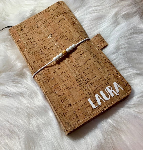 Custom handlettered natural cork planner, cover only! Customize with your name, logo, or design and perfectly sized for your favorite weekly