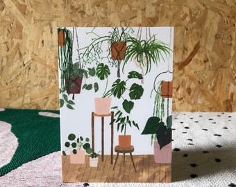 Potted Houseplants Greeting Card