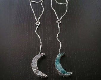 Moon Sliver Rosary Necklace