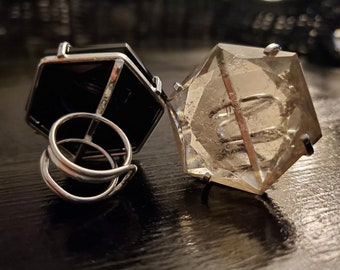 The Huxley *Faceted Hexagon Ring*