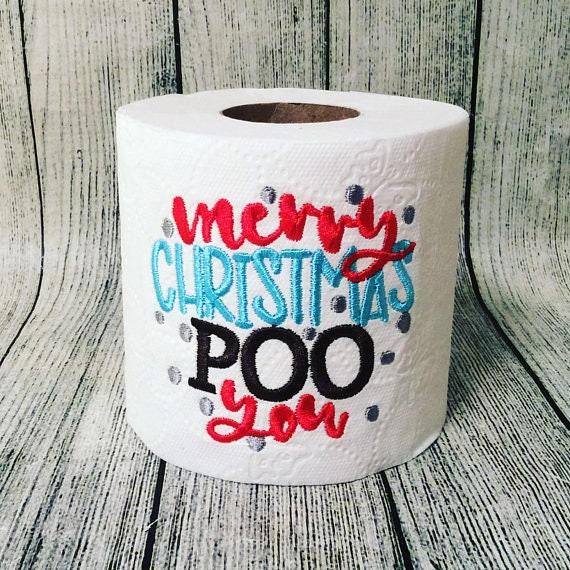 exchange source merry christmas poo you gag gift potty humor office gift etsy