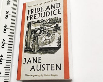 Mini Book, Classic novel, Austen, Pride and Prejudice- either brooch or magnet