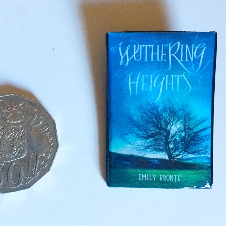 Mini Book Brooch Wuthering Heights