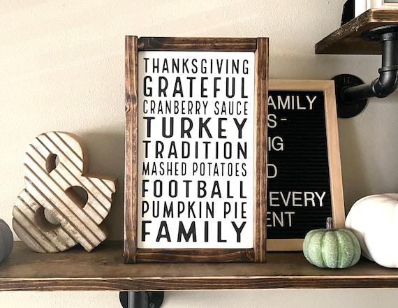 Farmhouse Sign | Thanksgiving Sign | Thanksgiving Subway Sign | Thanksgiving Words Sign | Fall Sign | Autumn Sign | Modern Farmhouse