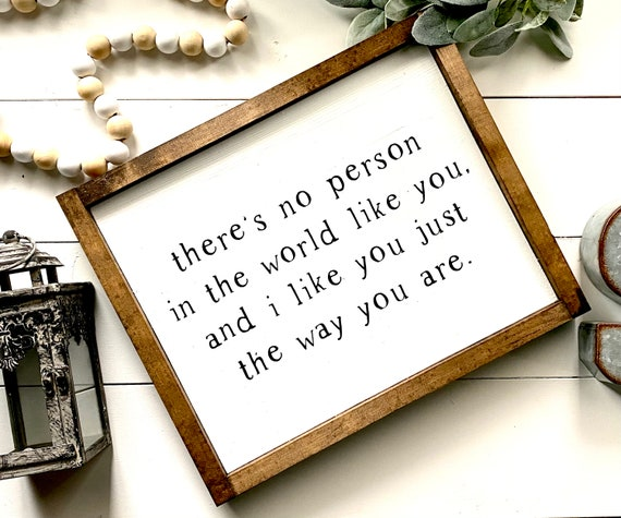 Farmhouse Sign | Mr. Rogers Sign | There's No Person In The World Like You | Mr. Rogers Decor | Popular Farmhouse Signs | Fixer Upper